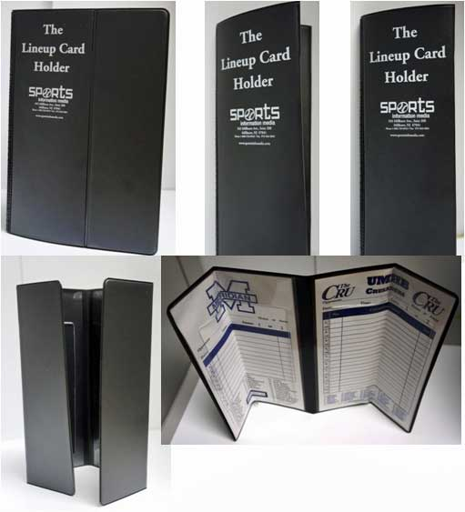 Baseball Lineup Card Holder