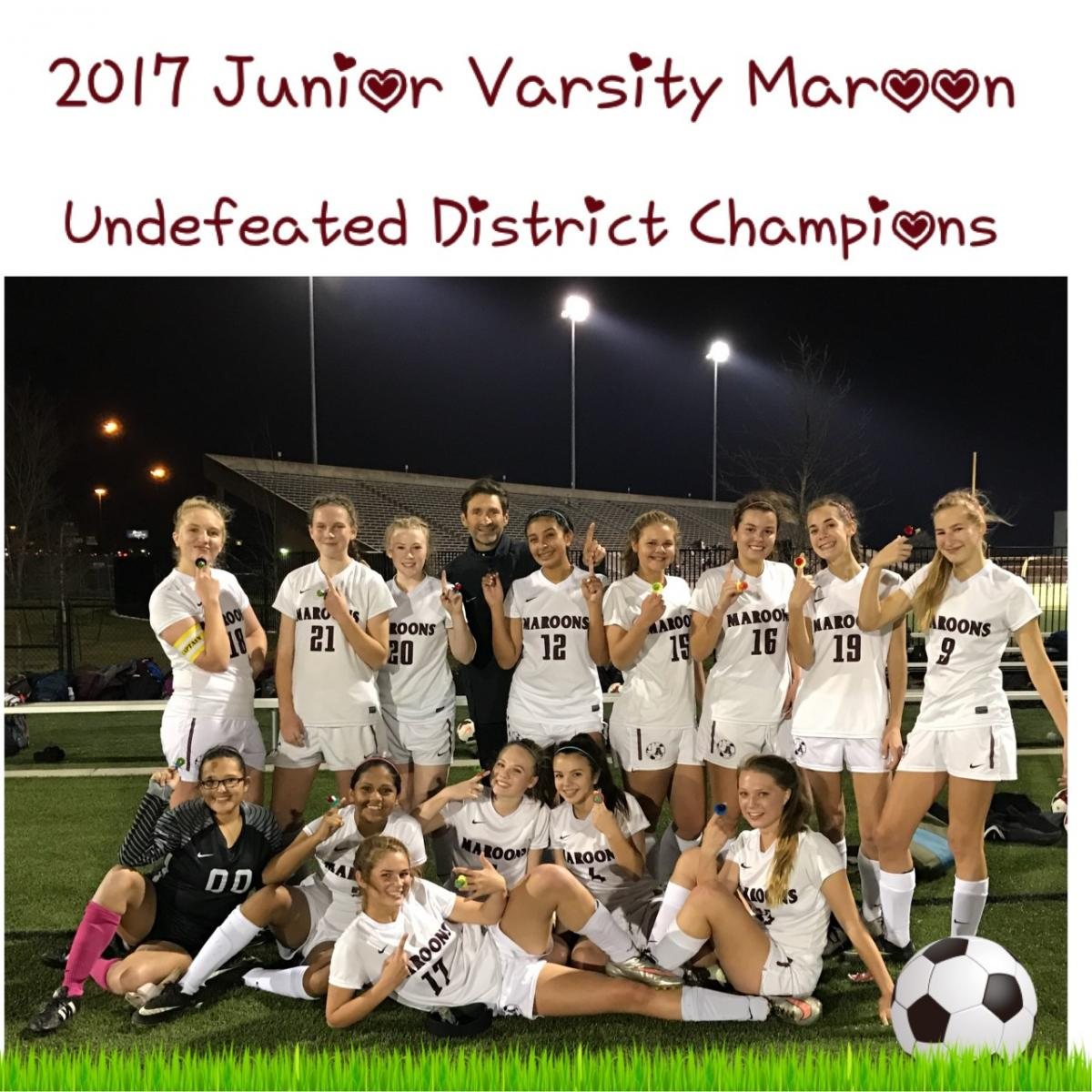 JV Maroon Wins District