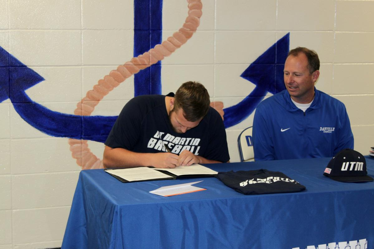 Brian signed with D1 University of Tennessee-Martin