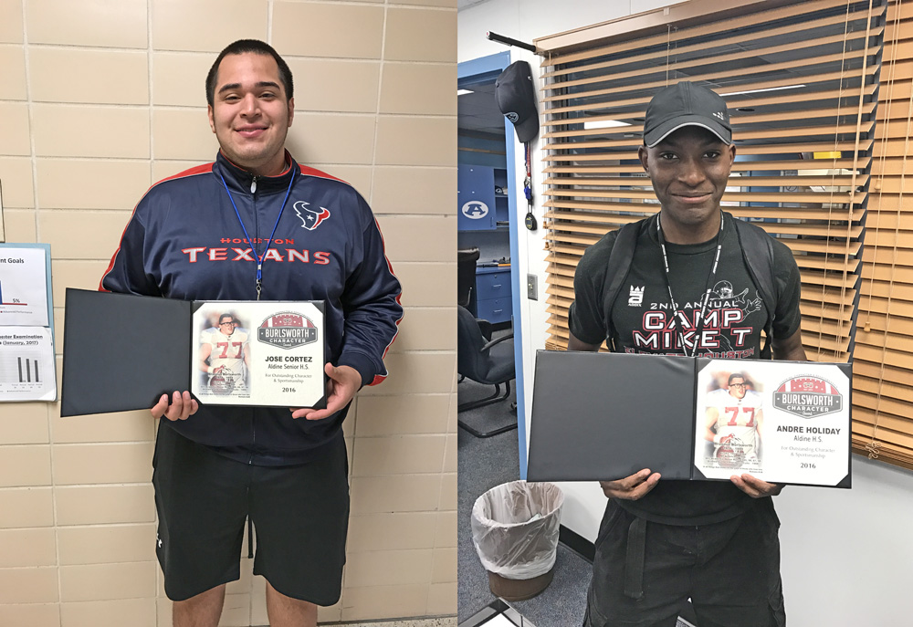 bec4c163180 Jose Cortez (left) and Andre Holiday (right) hold their awards.