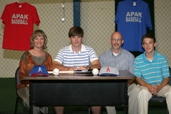 Will Bullock and Family on signing day at APAK