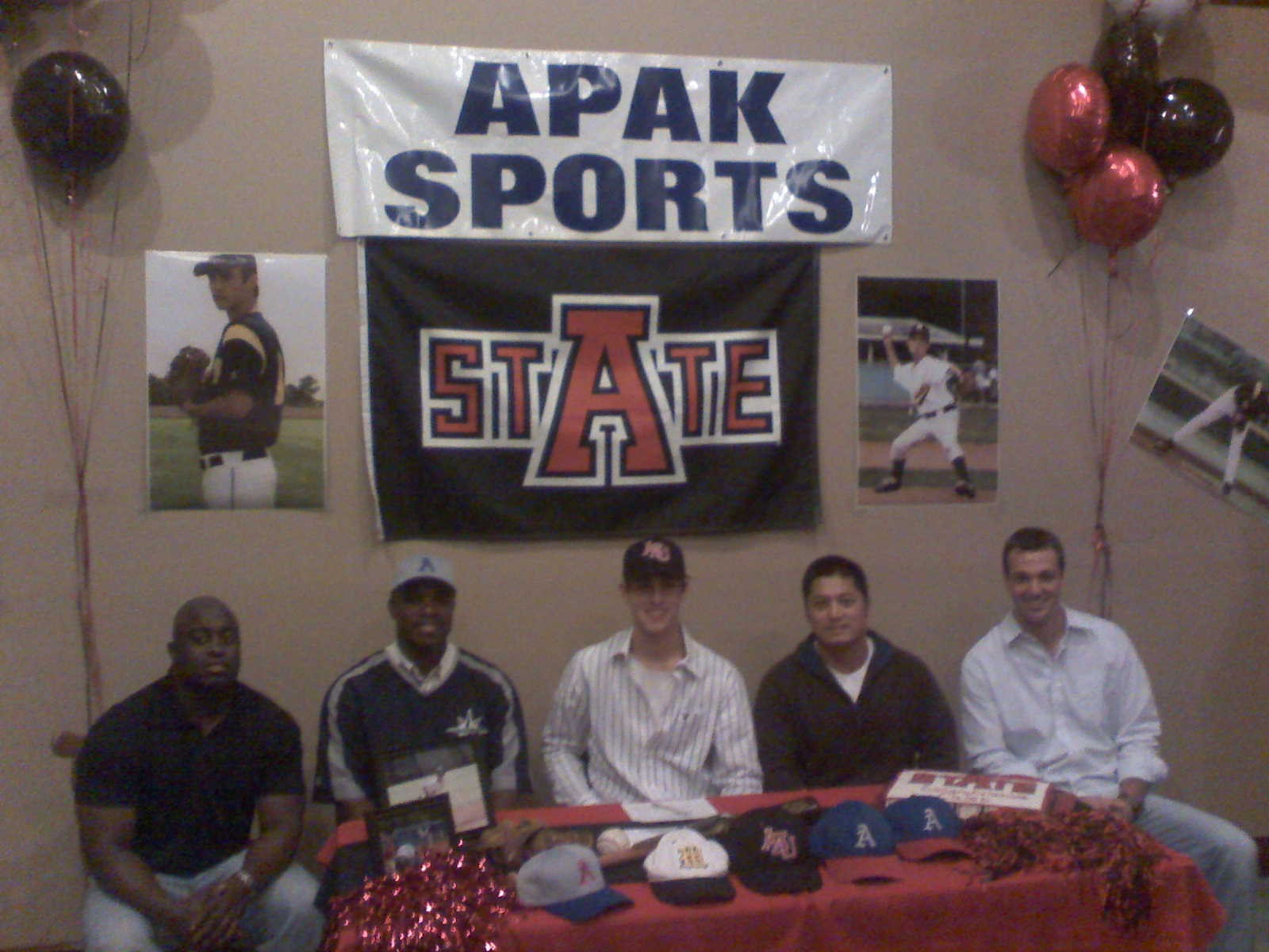 Caleb with Rod, Alvin, Coach Myers(HS Coach), Nick