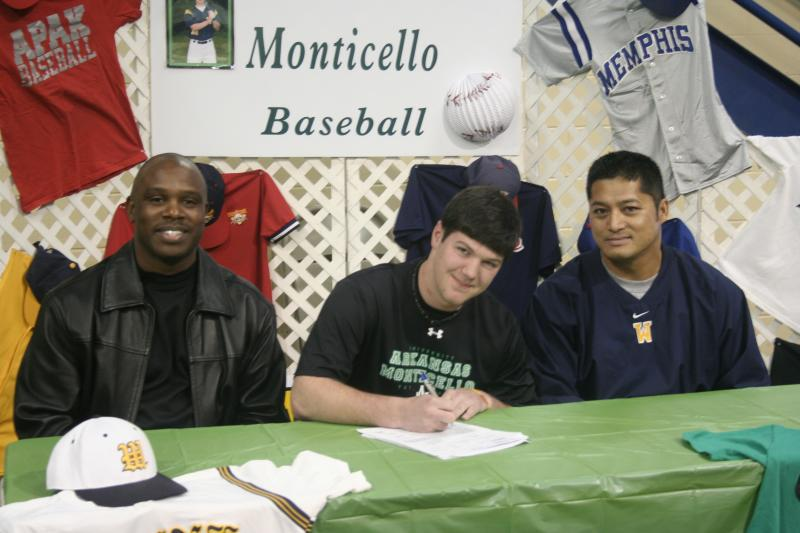 Keenan on signing day with U of Arkansas-Monticello