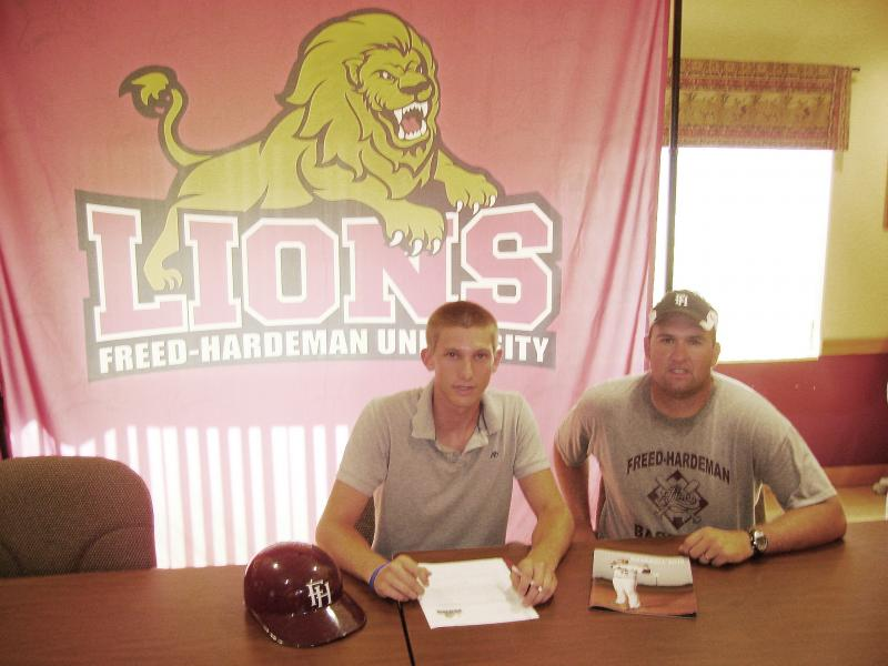 Stephen on Signing Day at Freed-Hardeman U