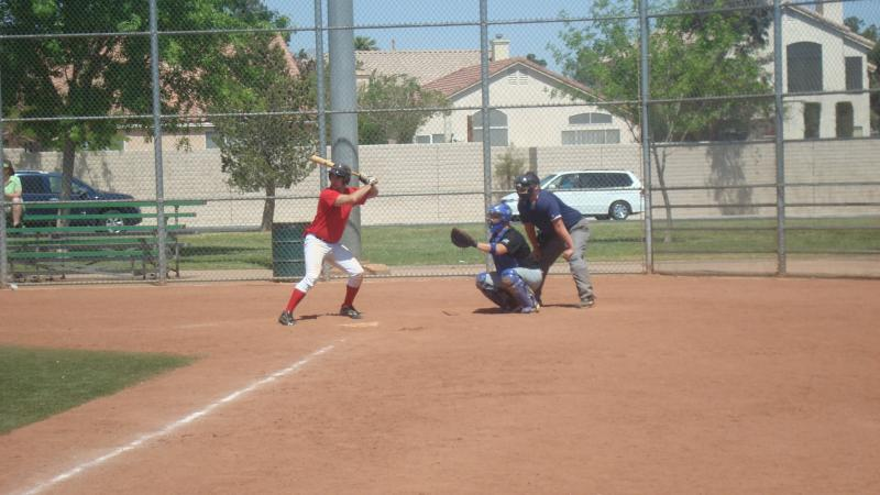 Taylor at the plate
