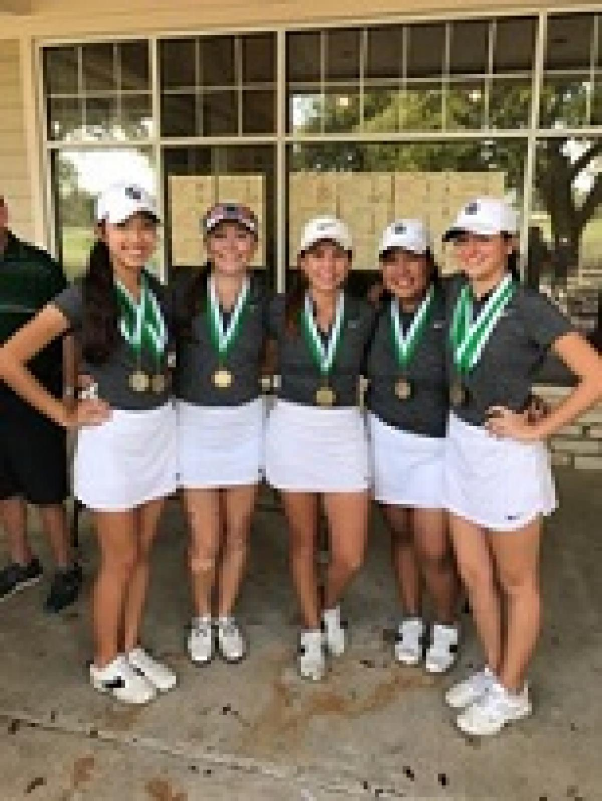 GIRLS GOLF WINS AT BRENHAM, 4TH at REGIONAL PREVIEW