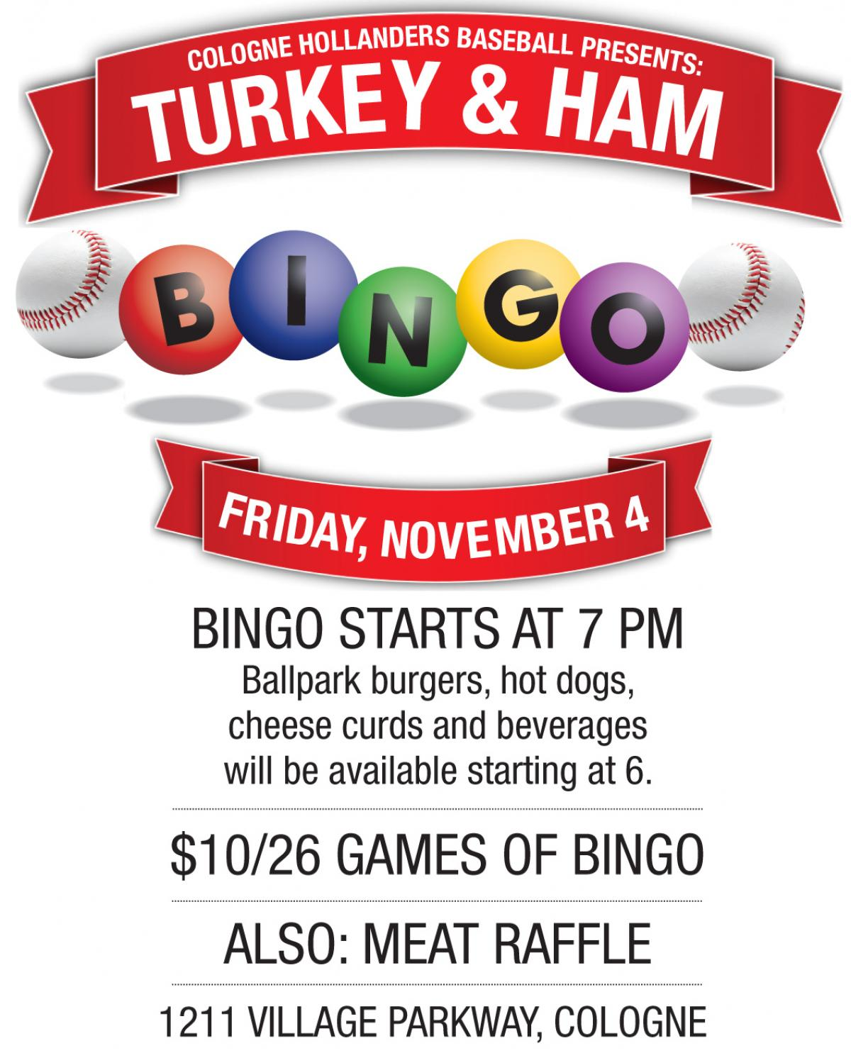 Cologne Hollander Fall Bingo Fundraiser