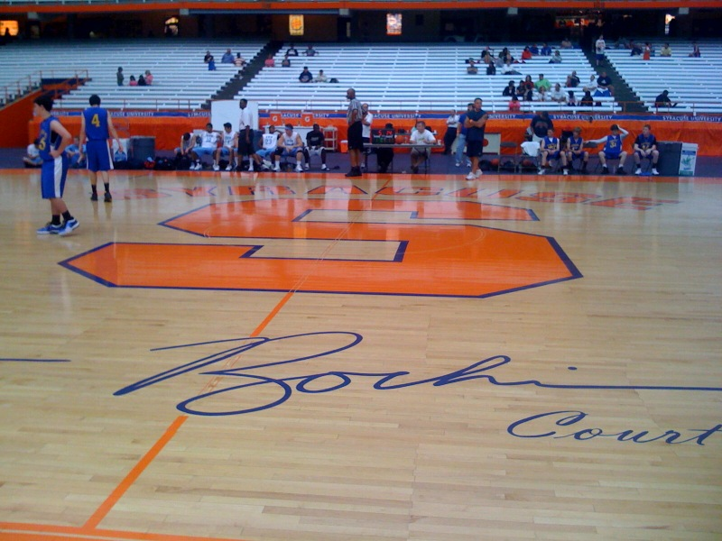 THE COURT THAT TEAM CAME TO SEE.