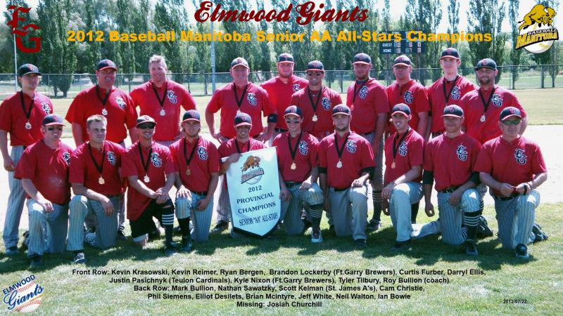 Elmwood Giant Seniors - 2012 Manitoba Senior AA All-Star Champions