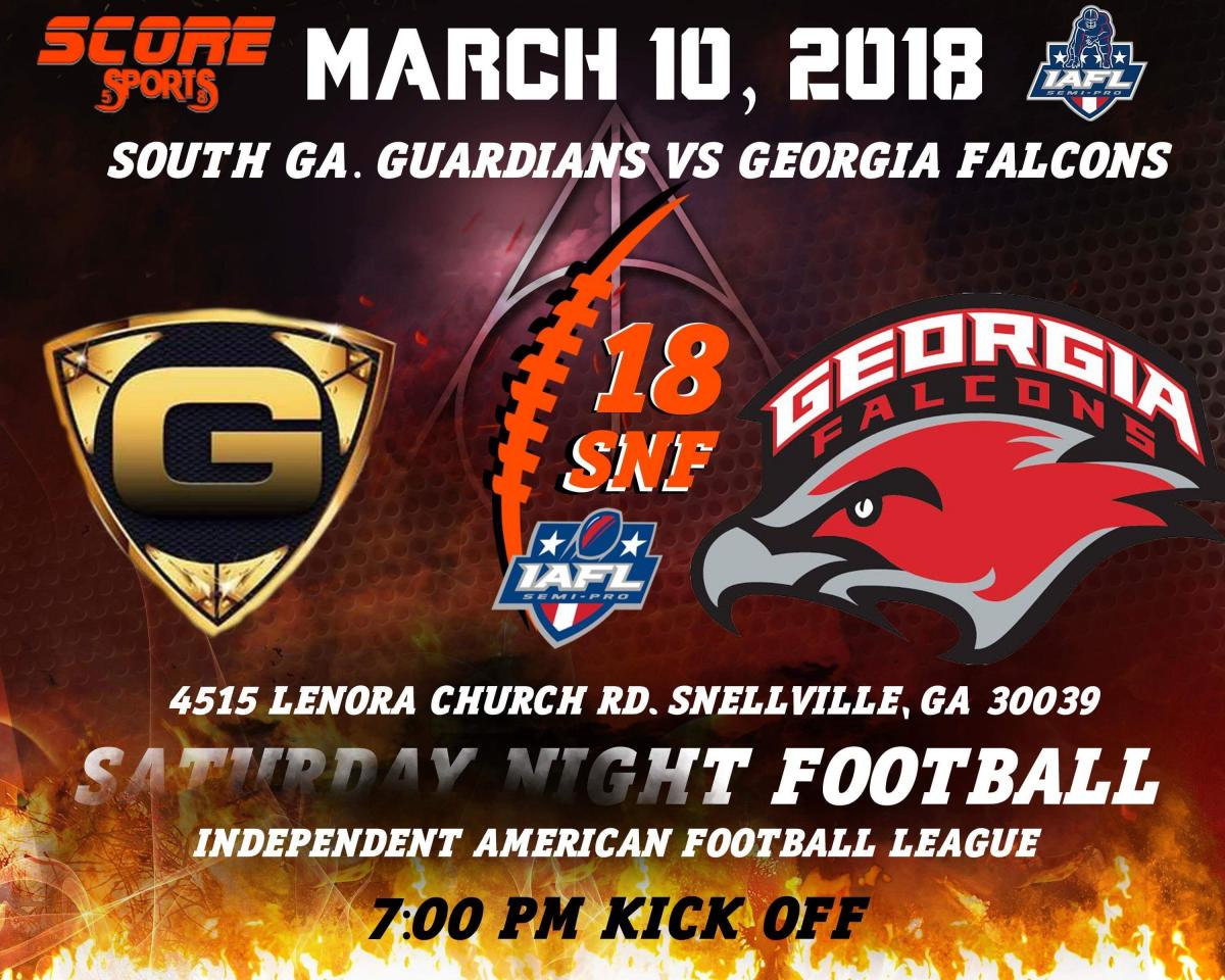 (1-0) Georgia Falcons vs (0-1) South Ga Guardians