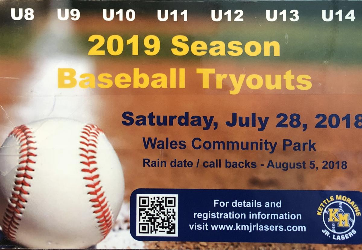 ***** We are still looking for U8(1st/2nd Grade) & U12(6th Grade) for 2019 ***** Registration Open - 2019 Tryouts - July 28 Wales Community Park - Makeup/Callbacks 08/05 - Wales Community Park