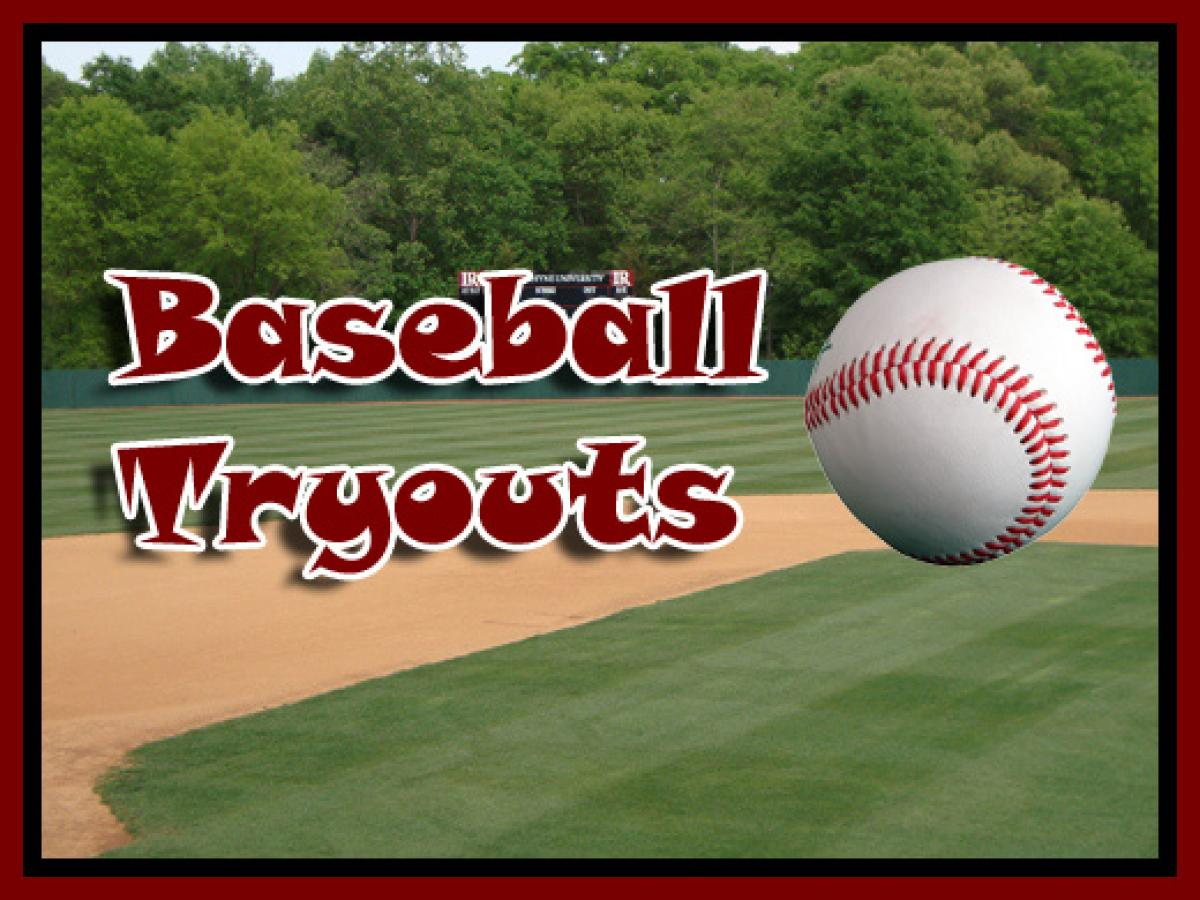 Tryouts For 2017 Season - Select Baseball