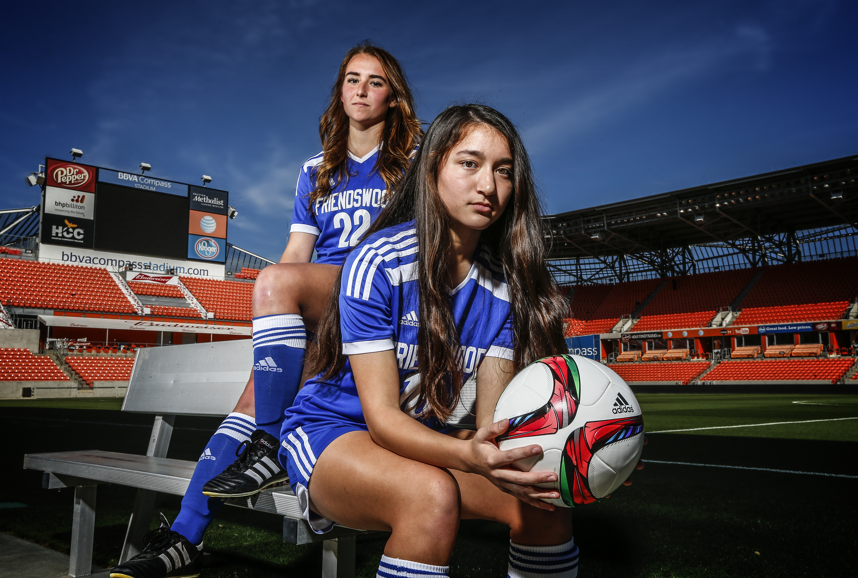 Rhiannon Suffield and Selina Vickery at the VYPE Soccer Photo Shoot