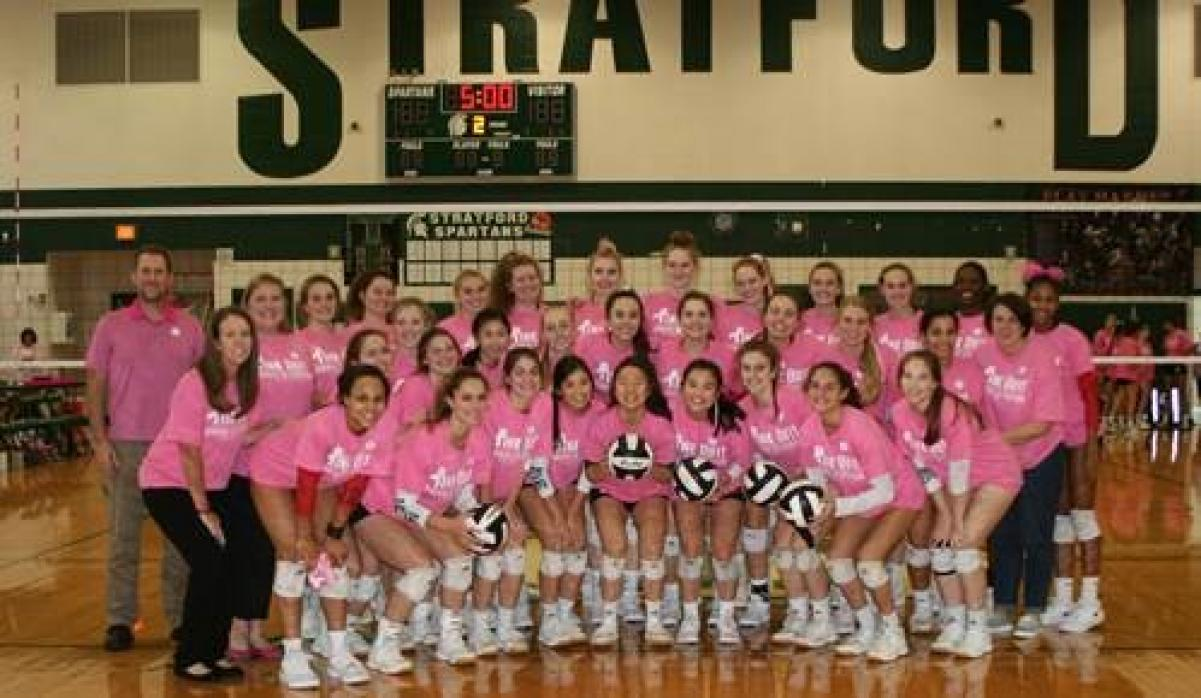 Memorial and Stratford Volleyball joined forces last week for charity