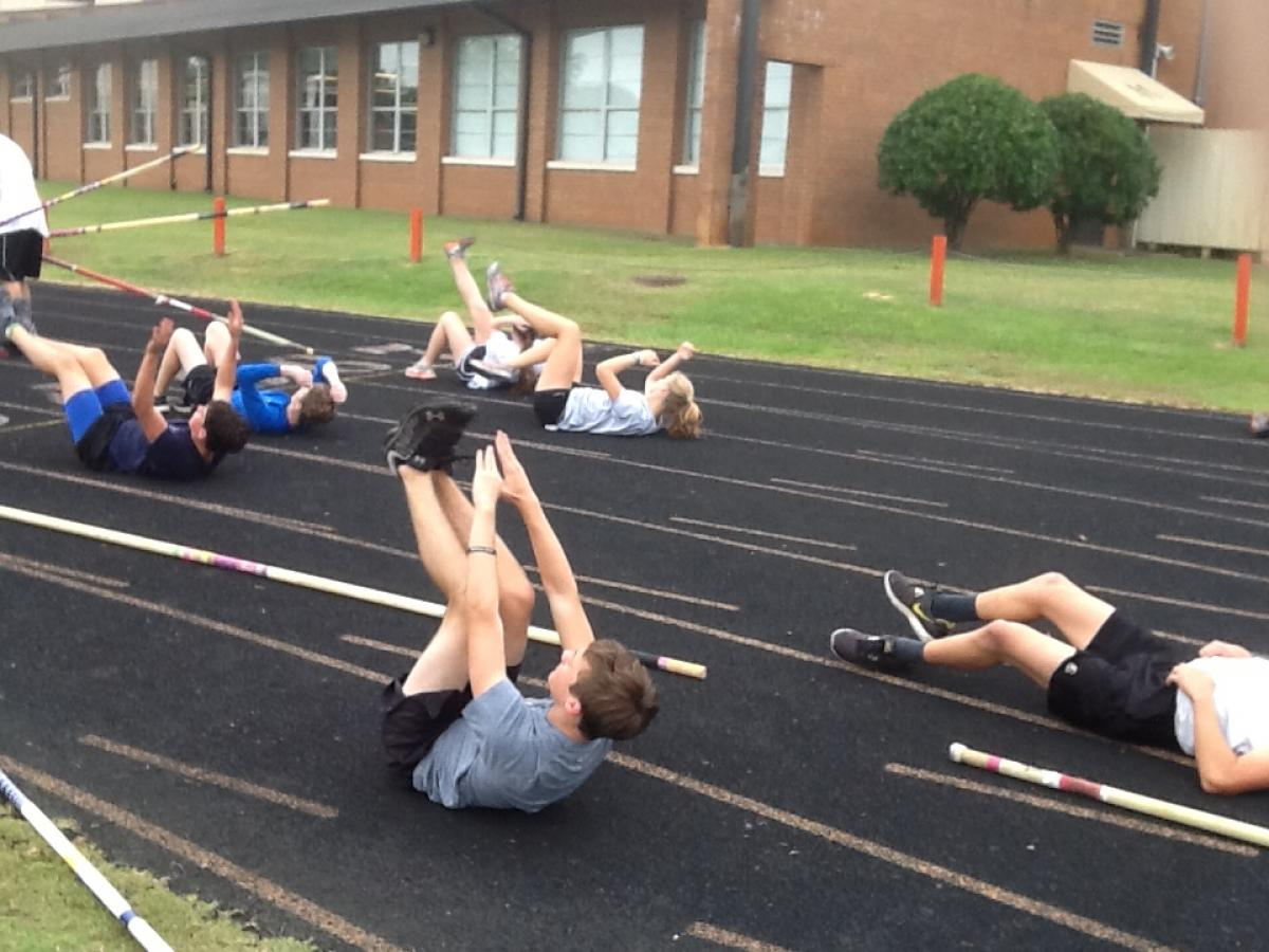 general workouts for vaulters and field athletes
