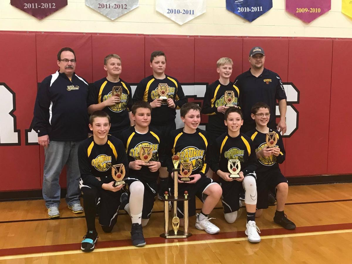 7th Gr. Ozaukee Warriors take the Championship at the Richfield Tournament!