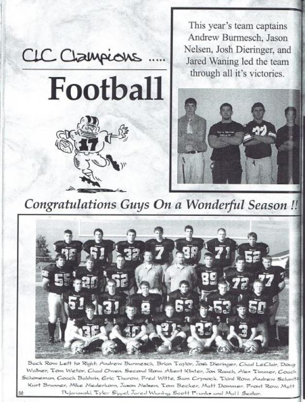 Welcome Back 2003 CLC Champs on October 3rd!
