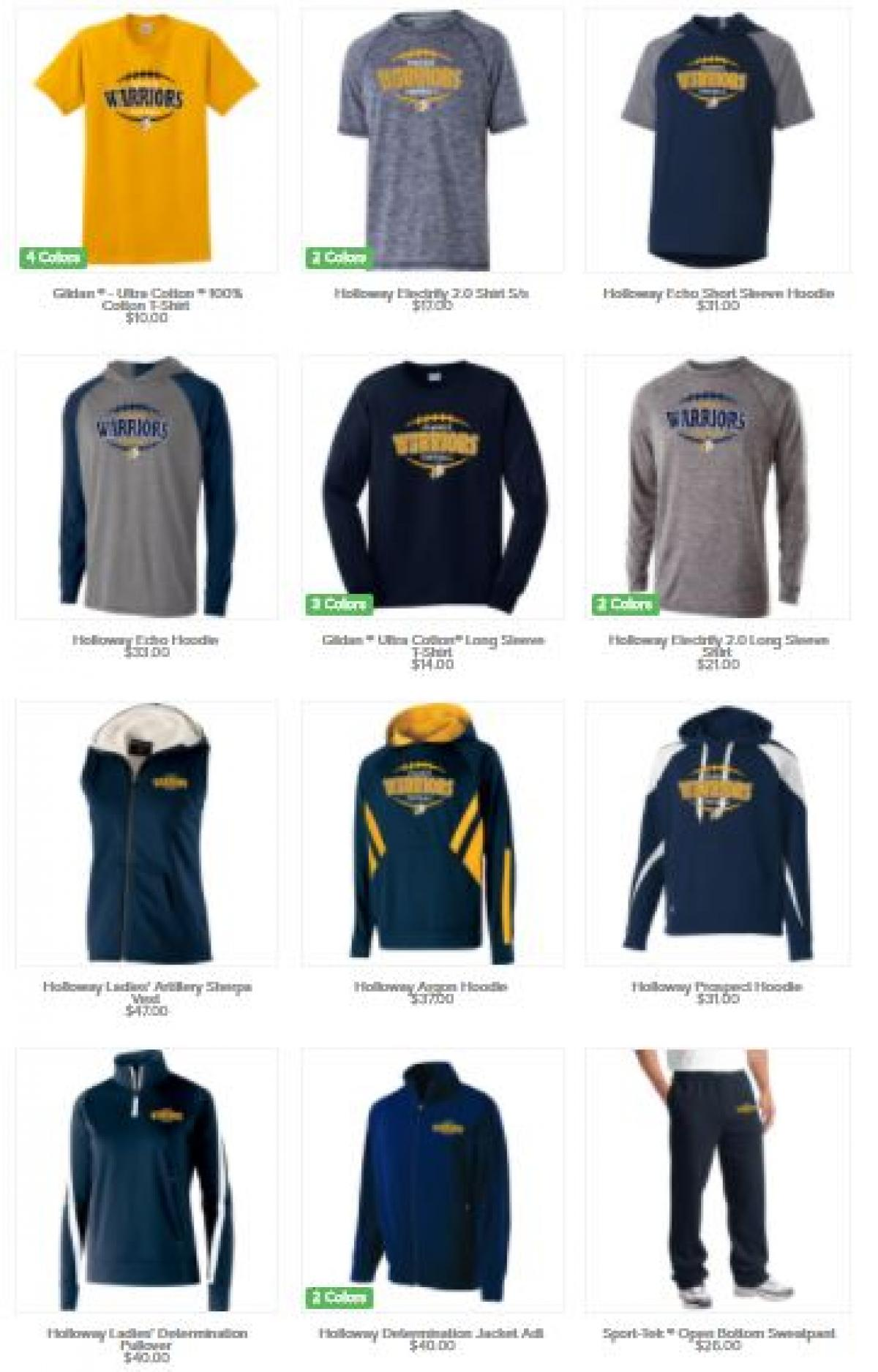 2017 Spirit Wear Store is Open! Order before August 13th