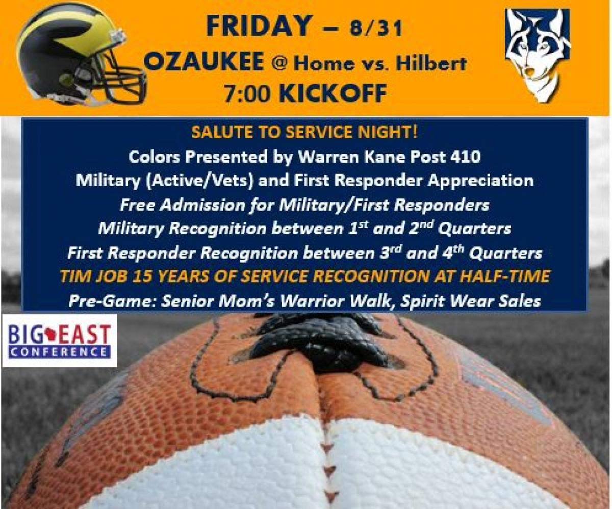 Active and Retired Military and First Responders Recognized this Friday!