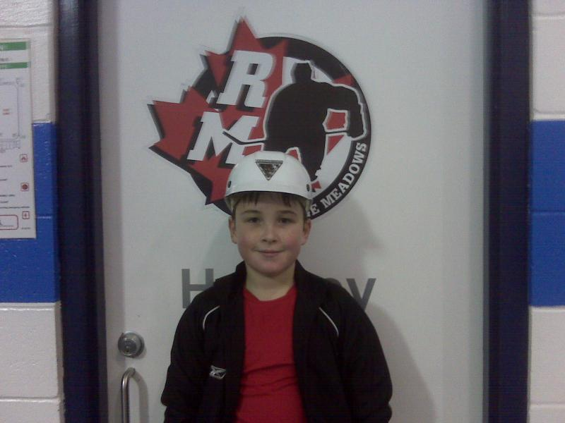 Zachary - Saturday's home game hard hat winner.  2nd Season Win