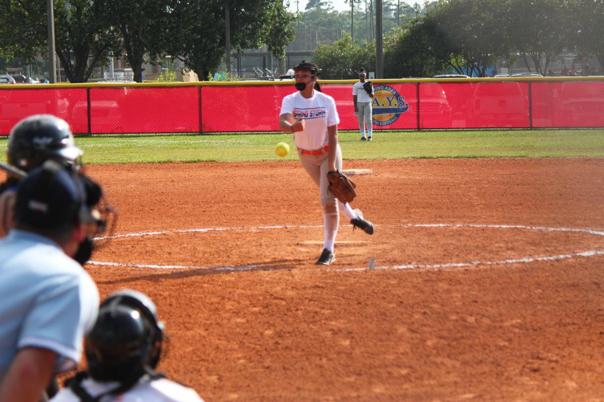 Kayla shows why she is one of the areas top pitchers