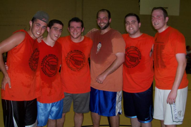 2008 Summer Champions: (Left to Right): Noam Block, Yossi Faber, Morti Faber, Eytan Bednarsh, Michie Smilow, Akiva Wolk.  Not Pictured- Benji Singfer, Dani Rubin, Moshe Kanarfogel. -  -