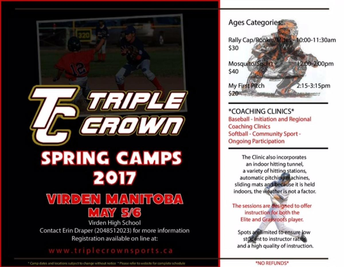 Triple Crown Ball Clinic and Coaching Clinic May 5th & 6th