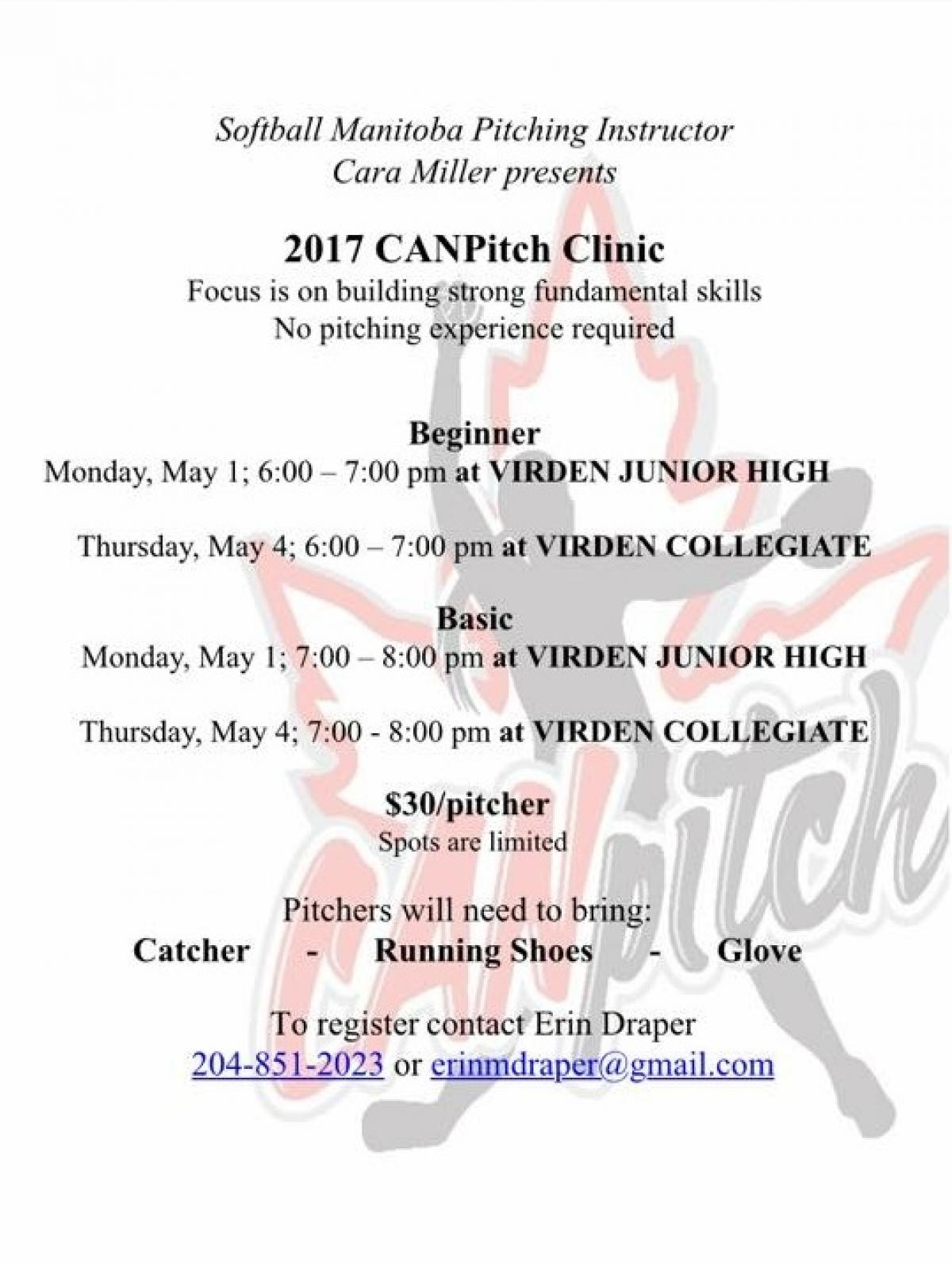 CANPitch Clinic for Softball