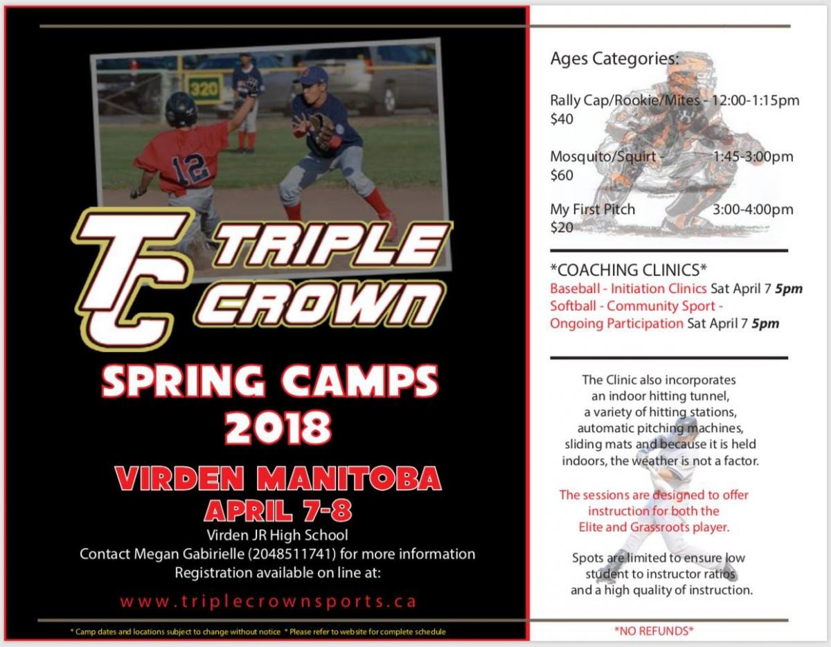 Triple Crown Ball Clinic - Open to ALL Players and Coaches