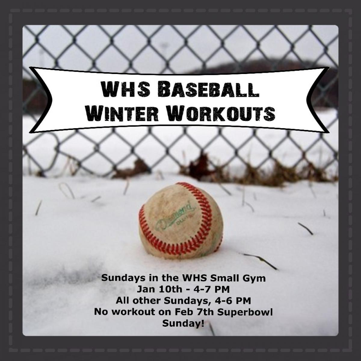 Winter Workouts Begin Jan 10th