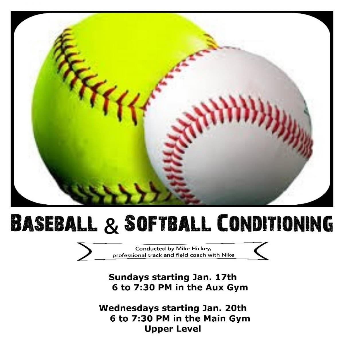 Baseball Conditioning begins 1/17/2016
