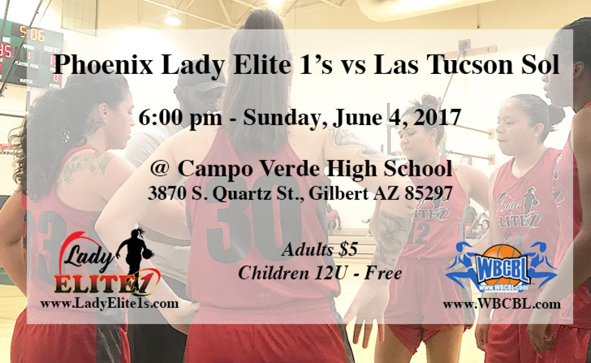 Phoenix Lady Elite 1's vs Las Tucson Sol