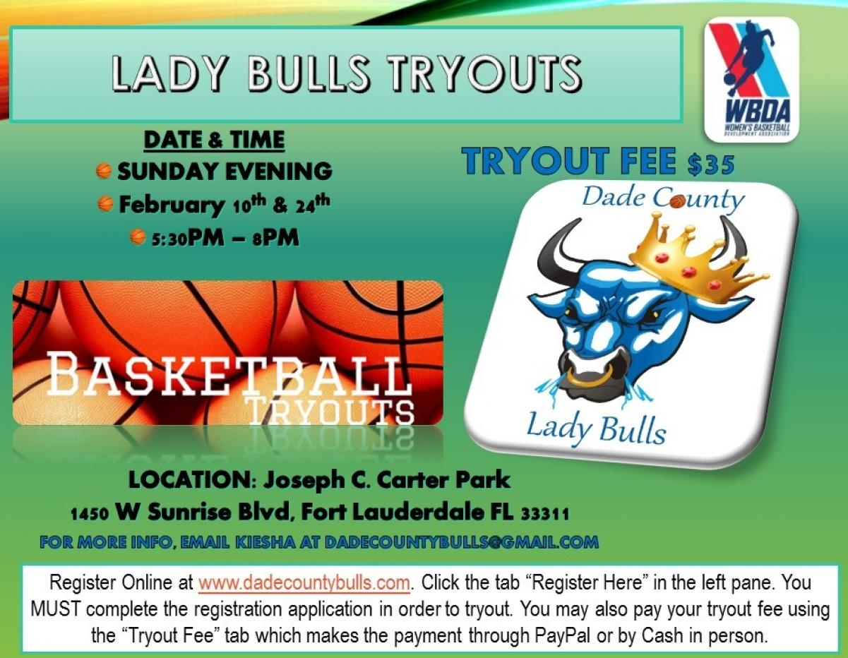 2019 TRYOUTS UPDATE